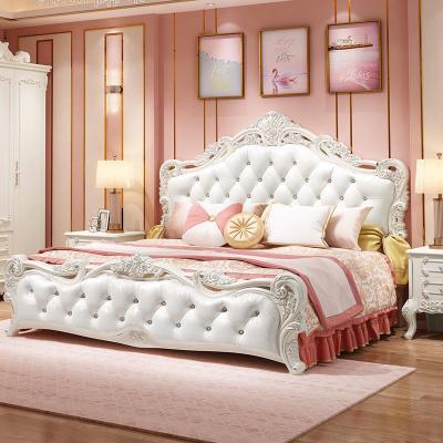 邁菲詩歐式床雙人床 主臥現代簡約公主床1.8米花婚床家具套裝組合