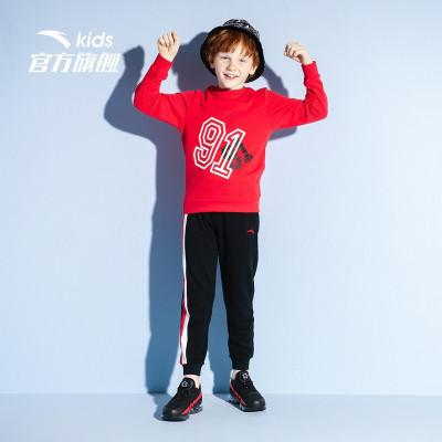 【130-170】安踏童装 男儿童 中大童套头衫针织运动套装 A35938786