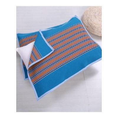 家柏飾(CORATED)加厚加密純棉手工老粗布涼席枕巾夏涼枕頭巾一對裝單人吸汗透氣