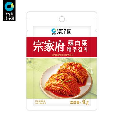 清凈園宗家府韓國泡菜辣白菜40g*5 韓式小菜袋裝咸菜下飯菜配飯菜
