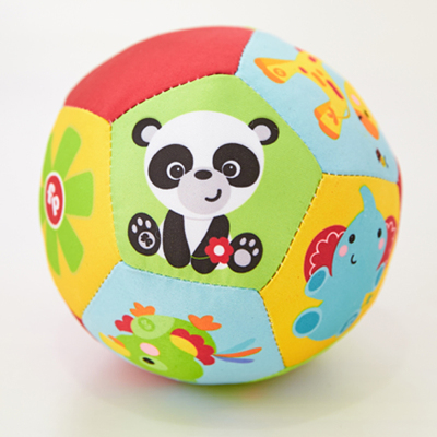 费雪(Fisher Price)动物认知球 宝宝手抓球 婴儿球玩具摇铃球铃铛球 布球婴儿F0807