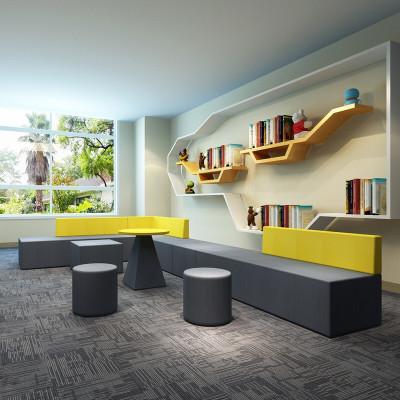 尋木匠異形創意沙發簡約現代套裝休閑休息區個性會客接待辦公室茶幾組合