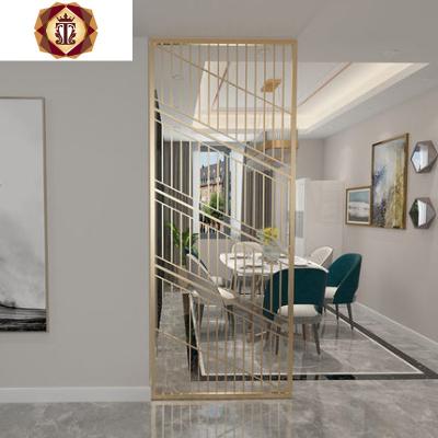 屏風鐵藝隔斷客廳裝飾玄關輕奢鏤空北歐小戶型金屬入戶簡約現代