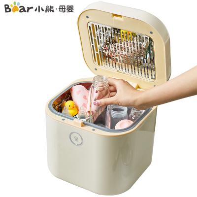 小熊(Bear)奶瓶消毒器带烘干 婴儿消毒柜 紫外线消毒锅 宝宝餐具玩具上拉式杀菌消毒器10L XDG-A01E1