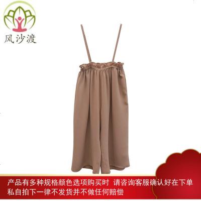 大耳象童装铺女童亲子背带阔腿裤夏季显腿长母女装减龄收腰图片件数为展示
