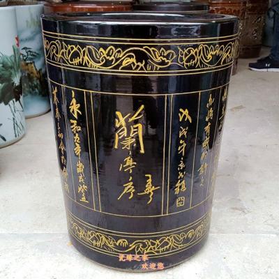景德鎮陶瓷器字畫筒書畫缸雕刻大號花瓶畫軸桶卷軸缸箭筒花插擺件