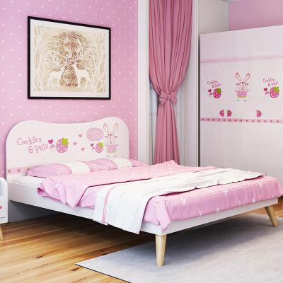 七葉木 床 兒童床 女孩 公主床 單人床 簡約床 臥室家具1.2/1.35/1.5米