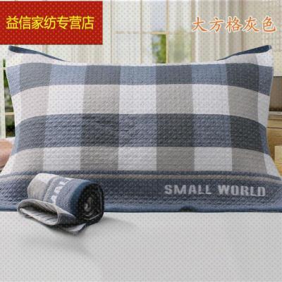 蘇寧放心購金典三點水純棉加大布藝枕巾特價一對價格尺寸52-78cm簡約新款