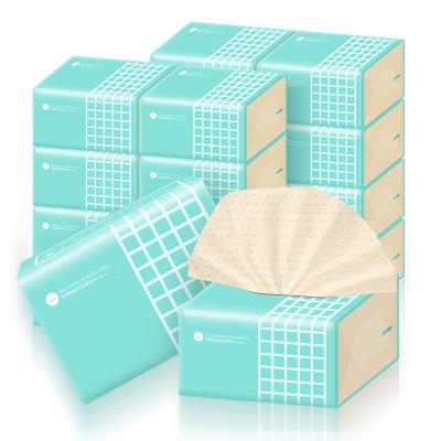 谷斑本色抽纸12包整箱实惠装3层加厚丽人装纸巾家用面巾纸抽擦手纸巾