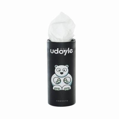 優道爾udoyle 汽車用品創意車載圓筒紙巾盒水杯架抽紙盒