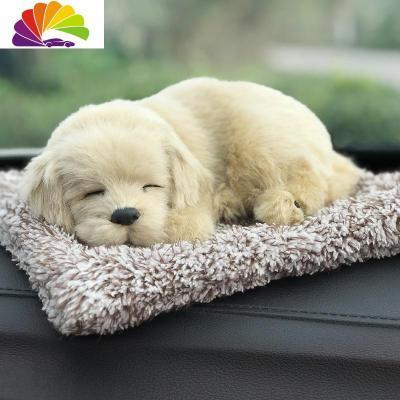 汽車用品車內飾品擺件車載裝飾仿真狗可愛活性竹炭包除甲醛除異味 拉布拉多大號-(含竹炭)舒適主義