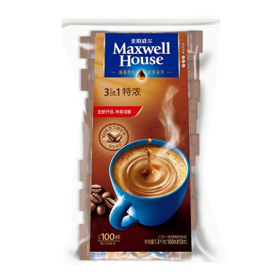 麥斯威爾三合一速溶咖啡 3in1特濃1300g(13g*100條)袋裝