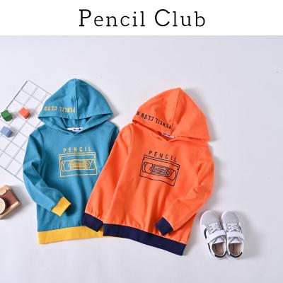 铅笔俱乐部童装2020春装新款男童连帽卫衣中大童长袖儿童休闲上衣