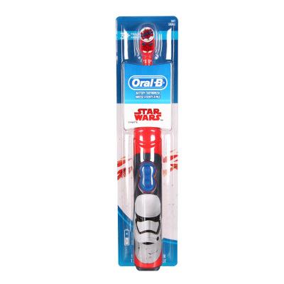 美国进口欧乐-B(Oral-B)儿童电动牙刷软毛小孩男女宝宝自动刷牙卡通 3岁以上 新老款随机发货