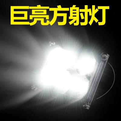 澳派电动车灯摩托车改装外置射灯led大灯电瓶三轮车超亮12v48v60v