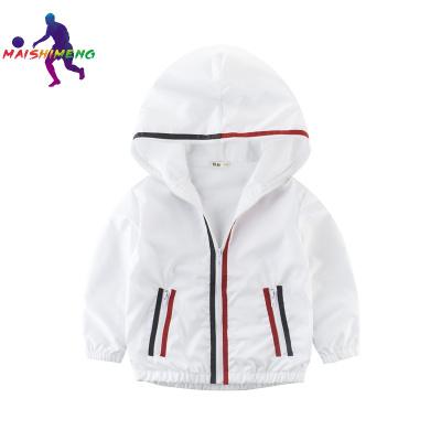 【精品特卖】中大童衣服 儿童外套风衣白色薄款男童开衫韩版童装运动服 迈诗蒙