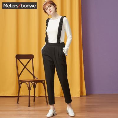 【3件1.5折价:59.9】美特斯邦威女学生潮冬装新款显瘦休闲裤