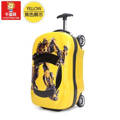 【精品特卖】儿童旅行箱男孩18寸玩具拉杆箱气车皮箱行李箱多功能户外旅行箱 黄车 猫太子 猫太子