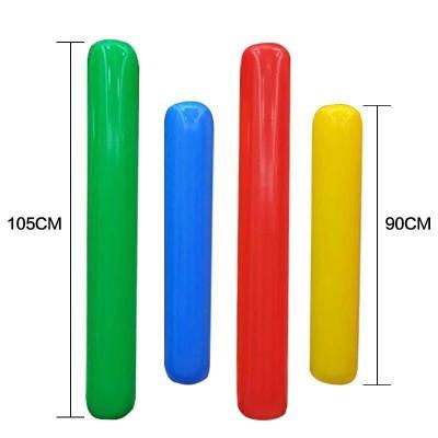 HLHJ 空氣棒幼兒園體智能加厚玩具感統訓練體育加油棒充氣棒太空棒 綠色90cm加厚
