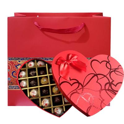費列羅巧克力Ferrero費列羅榛果巧克力心形禮盒裝27粒金混合口味裝禮盒2口味白色拉斐爾+金色費列羅組合