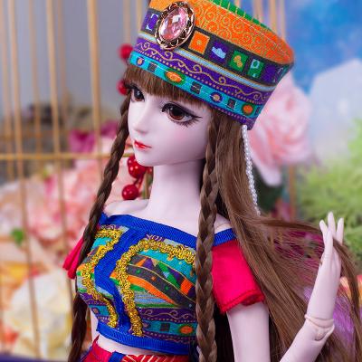葉羅麗娃娃女孩兒童玩具夜蘿莉仙子DIY仿真洋娃娃精靈夢卡通套裝禮盒改裝換裝玩具 黑香菱60CM