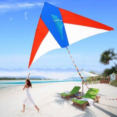 2米格子布紅白藍風箏圖片色