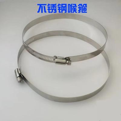 特大201不锈钢喉箍美式全钢喉箍通信卡箍电线杆全孔抱箍监控卡箍 直径380mm-430mm
