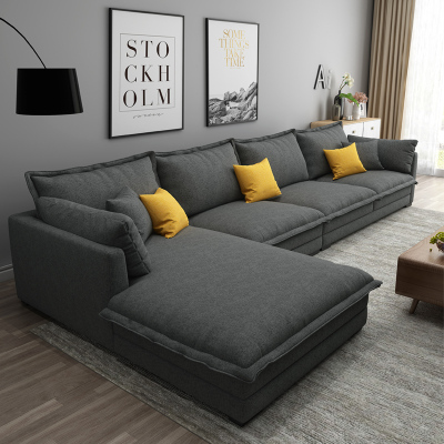 禧漫屋 北歐布藝沙發大小戶型沙發可拆洗現代簡約客廳沙發家具沙發公寓組合套裝