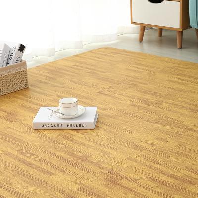 泡沫地墊拼接爬行墊兒童木紋地毯臥室床邊拼圖爬爬墊地板墊