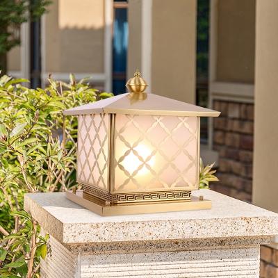 閃電客定制工程燈全銅方形柱頭燈大門花園別墅戶外庭院燈墻頭圍墻燈