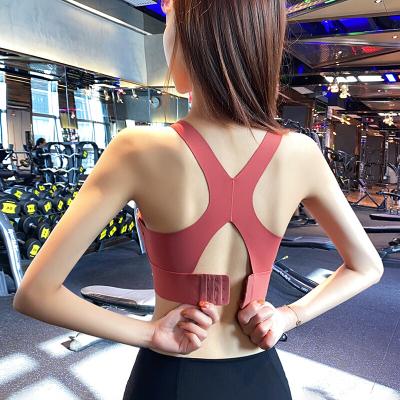 珂卡慕(KEKAMU)無痕運動內衣女士防震聚攏瑜伽背心式速干跑步健身