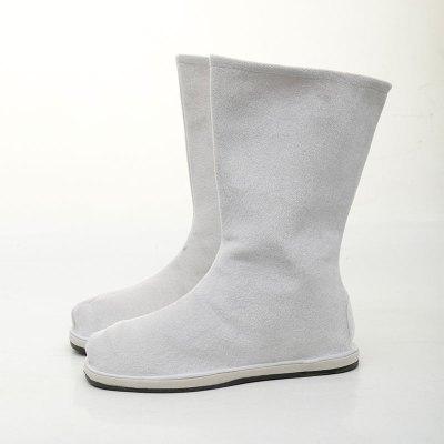 古裝靴子表演出防滑底古風cos漢服鞋子男女中式婚鞋古代官兵布靴