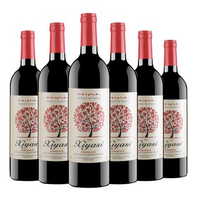 法國原瓶進口 波爾多產區 茜婭絲古堡干紅葡萄酒13度 750ml*6瓶 整箱裝