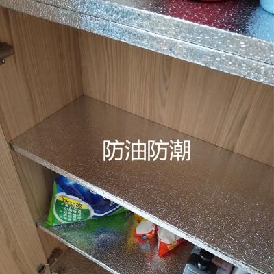 橱柜垫纸抽屉垫防潮膜铺厨房防油贴纸自粘鞋衣柜子铝箔纸加厚