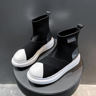 奧休斯(all shoes) 秋季增高防滑女士休閑鞋 女彈力布軟面舒適運動帆布鞋