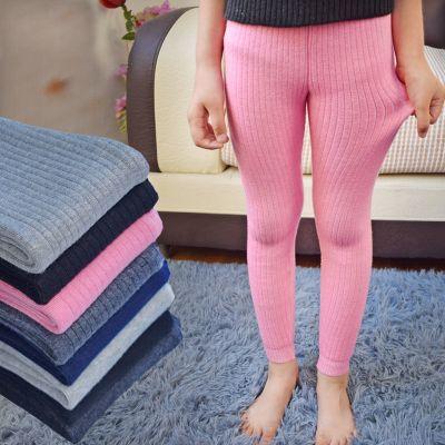 童装高腰保暖裤秋冬季男女儿童弹力加厚棉线裤内穿小中大童打底裤 臻涩