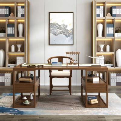 歐若凡新中式實木書桌書法桌簡約書臺電腦桌家用寫字臺書房家具辦公桌