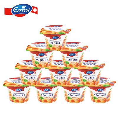 艾美Emmi 杏果风味低脂益生菌进口酸奶乳100g*10杯瑞士原装进口