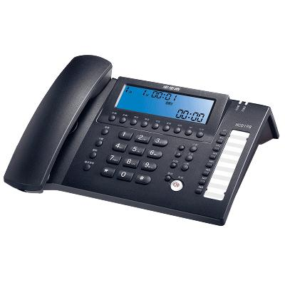 步步高(BBK)HCD198 有绳电话机 座机 智能录音 海量存储 批量拨打 时尚办公 夜光 双接口 深蓝