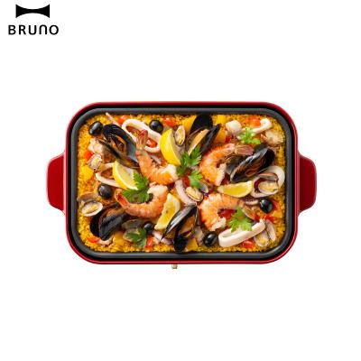 日本BRUNO坑紋烤盤BOE021-GRILL-1 烤盤多功能烤肉燒烤料理鍋家用電烤爐電烤盤