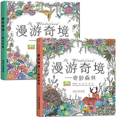 正版漫游奇境-梦幻花园减压涂色书韩国填色书魔法森林