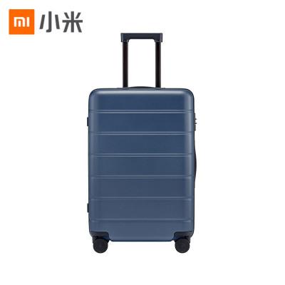 小米(MI)拉杆箱 高弹性万向静音轮旅行箱 TSA海关锁简约商务登机箱 24英寸 蓝色