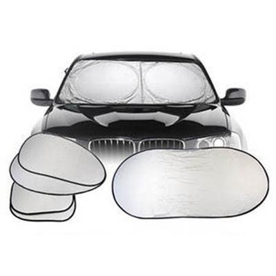CHE AI REN 汽車遮陽擋套裝 夏季防曬含拎袋 車用太陽擋 雙圈大號 涂銀7件套