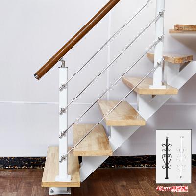 定制中柱旋轉室內家用整體樓梯踏步板閣樓復式樓踏板實木室外躍層 套餐三