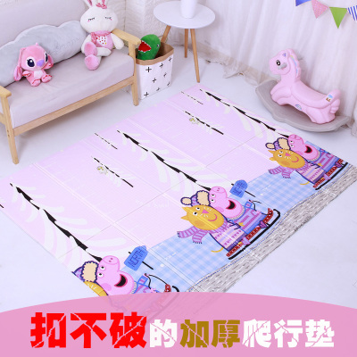 小猪巴比 小猪佩奇XPE加厚1cm爬行垫 双面可折叠男孩女孩宝宝地垫儿童婴幼玩具150*200*1cm 6个月以上