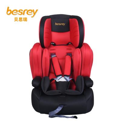 德国besrey儿童安全座椅9个月-12岁 isofix硬接口汽车安全座椅 BY1512 朝阳红