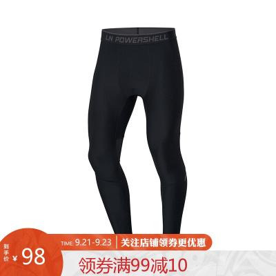 李寧健身褲男士訓練系列訓練褲男士透氣緊身針織運動長褲