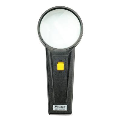 寶工 Pro'sKit 8PK-MA006 圓形手持式帶燈4倍放大鏡