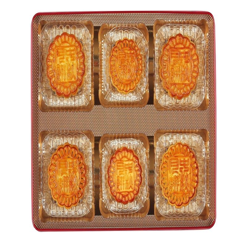 华美情意华美月饼420g 420g 蛋黄红豆蓉牡丹花月饼