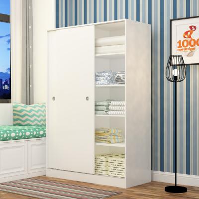 异新衣柜简约现代经济型移门衣柜推拉门非实木滑门木质组装卧室2两门简易